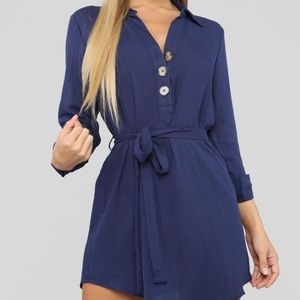 Blue tunic dress new with tags